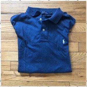 Polo by Ralph Lauren Blue Pima Cotton Polo XL